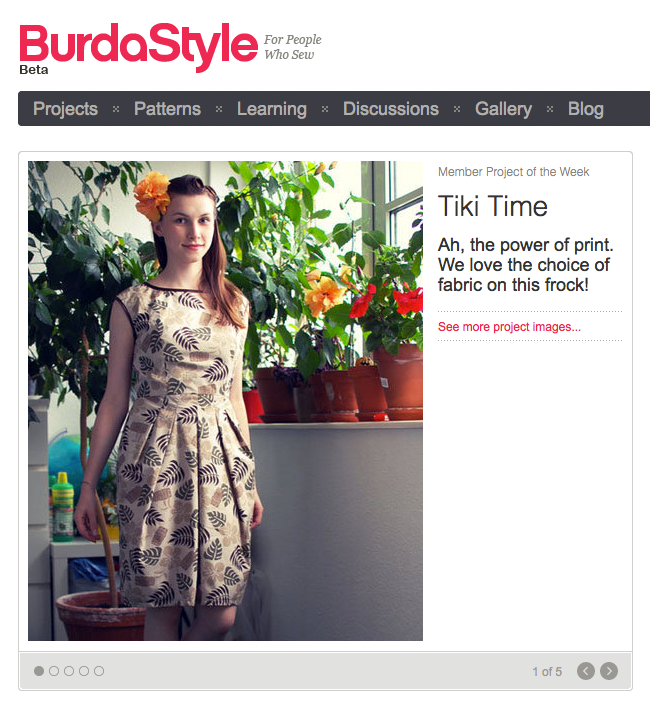 Member project of the week at burdastyle.com