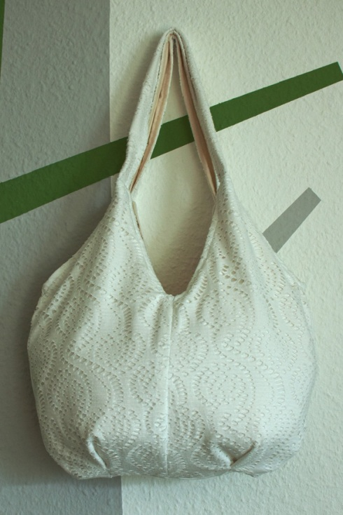 bag from jersey and cotton